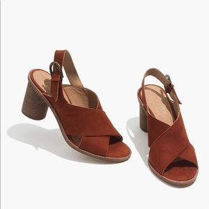 NEW Madewell Ruthie crisscross leather sandals 11